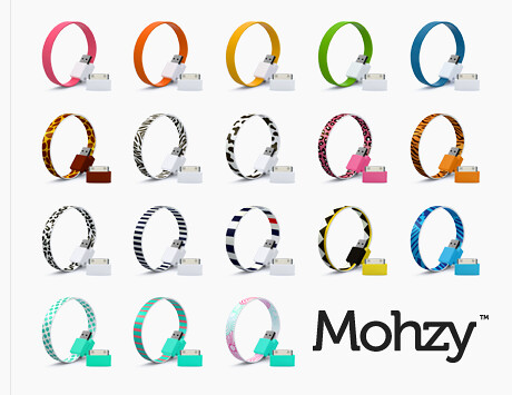 Mohzy Loop Micro USB and Apple iPhone and iPod Cable with variety of colors
