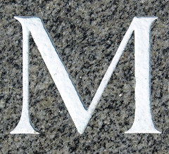 M (chrisinplymouth) Tags: stone incised m letter alphabet oneletter serif letterm capitalletter cw69x cw69az chrisinplymouth