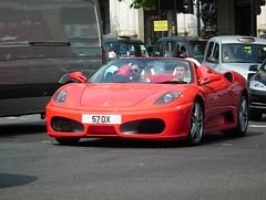 F430 Spider F1 (kenjonbro) Tags: uk red london spider trafalgarsquare convertible f1 ferrari spyder 2008 cabrio charingcross f430 sw1 worldcars kenjonbro fujihs10 57ox