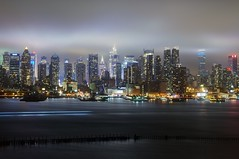 New York City on June 2, 2012 (mudpig) Tags: city nyc newyorkcity longexposure mist ny newyork reflection rain fog skyline night marriott reflections geotagged newjersey wind rockefellercenter timessquare esb bankofamerica hudsonriver empirestatebuilding empirestate gothamist chryslerbuilding westin edgewater hdr hoboken whotel newyorktimes 30rock barclay weehawken allianz unionhill mudpig stevekelley stevenkelley oneworldplaza