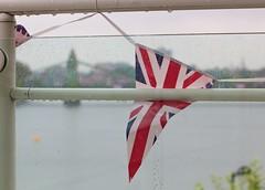 Jubilee bunting & Hammersmith Bridge (paulgmccabe) Tags: london rain thames jubilee hammersmith raindrops hammersmithbridge bunting diamondjubilee gettyjubileesun