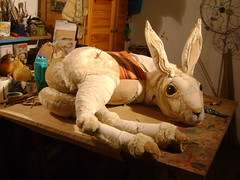 """Joseph"" (Valeria Dalmon) Tags: sculpture dog white animal joseph hare great human textil valeriadalmon"