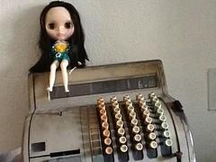 En la máquina registradora