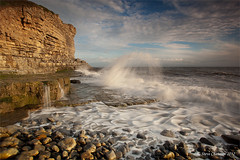 High Tide (Steve _ C) Tags: sea cliff beach wales canon coast rocks waves south tide pebbles 1740 2012 giottos monknash ndgrad heritagecoast leefilters 5dmk11 stevechatman