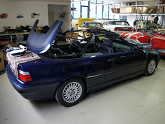 BMW 3 Series E36/2C Convertible Top Assembly (ck-cabrio_creativelabs) Tags: bmw 3series e36 convertible top convertbiletop softtop repair cabriolet trimshop upholstery ckcabrio