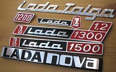 Export Lada emblems (baga911) Tags: uk nova germany emblem austria riva united kingdom collection badge 1200 signet 1500 lada collector vaz niva taiga 1300 2107 2105 waz 2103 21011 2101 2106 shiguli zsiguli embléma