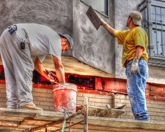 Men at Work (podolux) Tags: men philadelphia work canon pennsylvania working 2006 powershot menatwork pa philly penna unaware unsuspecting cityofbrotherlylove tonemapped july2006 canonpowershota540 powershota540 photomatixformac