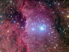 NGC 6188 and NGC 6193 in Ara (Rolf Wahl Olsen) Tags: sky color star space deep astro observatory telescope astrophotography planet astronomy universe cosmos deepspace astrometrydotnet:status=solved astrometrydotnet:version=14400 astro:subject=ngc6188 competition:astrophoto=2012 astrometrydotnet:id=alpha20120726623306