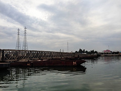 Qarmat Ali Waterway Pontoon Bridge, Basra, Iraq