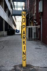 No Parking (fwjs) Tags: york city sign yellow nikon downtown no noparking exploring parking yorkcity d600 nikond600