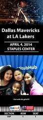 Your StubHub Commemorative Ticket (StubHubPhotos) Tags: lakers mavericks staplescenter stubhub