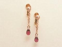 ロードライト・ガーネットのイヤリング   Rhodolite Garnet Earring (jewelrycraft.kokura) Tags: earring pinkgold garnet rhodolite k18 イヤリング ガーネット ピンクゴールド ロードライト・ガーネット