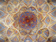 Ali Qappu palace ceiling mosaic (German Vogel) Tags: beautiful circle design asia pattern iran mosaic decoration middleeast palace ceiling isfahan safavid intricacy islamicrepublic westasia aliqappu