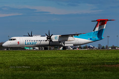 Luxair DeHavilland DHC-8 LX-LGG EIDW 230414 (gerrykane214) Tags: ireland dublin airport aviation landing international commercial april dehavilland luxair 2014 dhc8 rwy28 eidw lxlgg