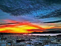 SF Sunset #427 (Mister Mal) Tags: california bridge sunset pen golden bay photo gate san francisco marin touch olympus ps micro area headlands 28 leonardo edit 17mm m43 mft 40150mm 3556 43rds 1442mm epl1 ipad2 photoforge2 snaseed