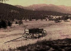 Old Box Wagon at the Dodge Ranch, Mt. Evans, Colorado (atjoe1972) Tags: vintage wagon colorado rustic historic western rockymountains wildwest mtevans oldwest atjoe1972 dodgeranch
