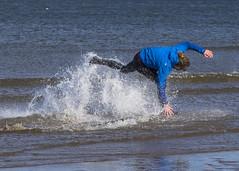 Skim Boarder 012 (KeithProvenArtist) Tags: sea beach sport scotland surf waves play fife standrews westsands skimboarder