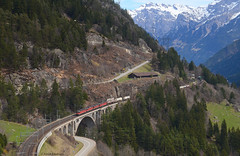 Re 6/6 11662 , Re 4/4 11347 , Re 4/4 11331 , Re 6/6 11637 (vsoe) Tags: railroad panorama mountain train schweiz switzerland swiss engine railway sbb berge bahn ch zge gotthard wassen sbbcargo