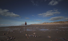 Blissful Beauty - Llangennith Beach (Harriet Rose Scanlon) Tags: portrait sky beach girl clouds self landscape photography sand bright sunny harriet definition scanlon llangennith