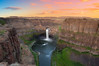 Palouse Falls (Meleah Reardon) Tags: park sunset sky water clouds river landscape waterfall washington spring long exposure state outdoor canyon falls eastern palouse