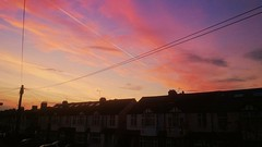 SW Sunrise (Taken by my Nephew) (Climate_Stillz) Tags: morning beautiful silhouette sunrise pinksky morningsky pinkclouds southwestlondon skycolours colouredsky cloudstreaks nokialumia coloursatsunrise