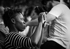 Concentrated - Carl Zeiss Jena DDR Sonnar 135/3,5 (petrwag) Tags: street blackandwhite bw blancoynegro blackwhite czech prague praha photographing carlzeiss ernobl