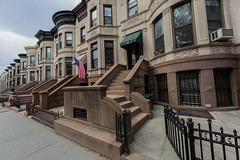 Historic Park Slope (mookie.nyc) Tags: nyc newyorkcity classic brooklyn cityscape townhouse flag parkslope americanflag wideangle dailylife quaint brownstone wideanglelens 14mm brooklynarchitecture oldbrooklyn parkslopebrooklyn brooklyncityscape 14mmcanonf28
