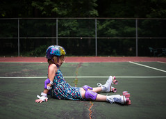 """27  100  """"I am a very good roller skater...when I'm sitting down."""" (trois petits oiseaux) Tags: kids play skate rollerskate"""