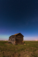 Added Corners (Wayne Stadler Photography) Tags: old travel moon house canada abandoned home night rural stars countryside darkness roadtrip structure alberta moonlight prairies derelict