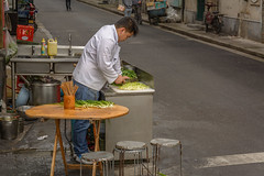 Shanghai streets 03 (stevefge) Tags: china shanghai street people candid food chef reflectyourworld