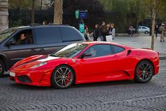 Spotting 2011 - Ferrari 430 Scuderia (Deux-Chevrons.com) Tags: auto street paris france car sport automobile ferrari spot voiture exotic coche spotted gt rue luxury scuderia supercar spotting exotics f430 430 ferrarif430 sportcar prestige croisée ferrarif430scuderia