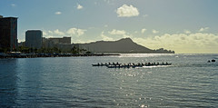 Morning Workout (jcc55883) Tags: hawaii oahu alamoanaarea magicisland diamondhead crew rowing ocean pacificocean nikon nikond3200 d3200