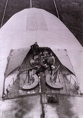 2 airmen in a machine gun nest on top of the giant gas bags that make up a Zeppelin [1000x1425] 1916 #HistoryPorn #history #retro http://ift.tt/1sJhIut (Histolines) Tags: 2 history make up giant that gun nest top zeppelin machine retro gas timeline bags 1916 airmen vinatage historyporn histolines 1000x1425 httpifttt1sjhiut