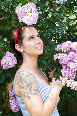 Day167 (rendezvousnu) Tags: inked tattoos selfportrait self vanity portrait floral lyrics mondaymorning deathcabforcutie deathcab project365 projecteulalie eulalie