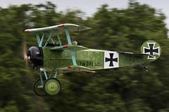 Fokker Dr.I - 3 (NickJ 1972) Tags: les la aviation des replica airshow temps dri fokker dr1 2016 triplane alais helices ferte 52517 fazvd