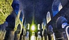 Come into my Crypt (Steve Taylor (Photography)) Tags: uk windows england white abstract london art church stone vintage dark painting royal chapel arches stjohn norman londres gb romanesque ghostly toweroflondon caen qeii towerhill whitetower 1080