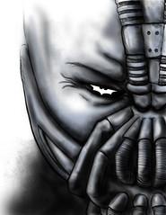 the Dark Knight Rises (Drummy ) Tags: art digital mask graphic symbol drawing contest bat dramatic batman bane submission drummy drumrollstudios thedarkknightrises