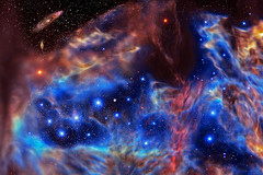 Deep Space 66 - Sea Turtle and Sea Horse Nebulae (mtnrockdhh) Tags: experimental