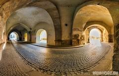 150 Pano Innbrckgasse House Tunnel (alpenbild.de) Tags: road panorama house bayern deutschland bavaria strasse pano haus tunnel passau topaz ptgui   strase mygearandme mygearandmepremium mygearandmebronze alpenbildde