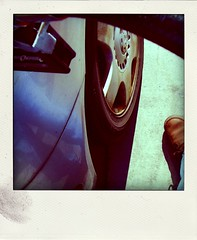 $50.19 (LeftCoastKenny) Tags: car wheel shoe tire utata ironphotographer poladroid utata:color=black gasolinehose utata:project=ip149