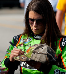 Danica signing before the Nationwide race (ray fitzgerald) Tags: nascar rir danicapatrick nascar4272012