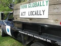 Veggie Oil Powered Truck (G.A.L.A.) Tags: gala rainbarrel compostbin solarclothesdryer 42412 amtp raisedgardenbed sustainaraiser