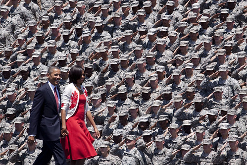 From flickr.com: Saluting the Commander-in-chief {MID-225908}