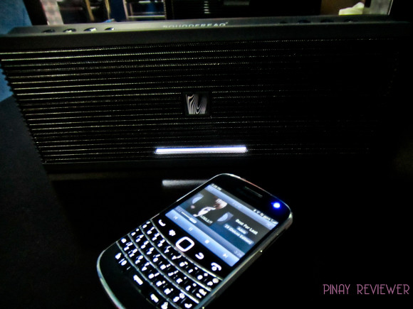 Soundfreaq Sound Kick paired with my Blackberry 9900