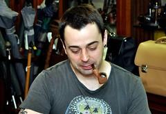 Eder Mathias visits Al Pascia' (Al Pascia') Tags: pipes pipe smoking smoker pipa pfeife fajka pipesmoker pfeifen piber cachimbos wwwalpasciacom edermathias mrhydehydepipepipessmoking