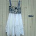 made to order tattered handmade dress