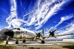 Lockheed P-3 Orion (eCHstigma) Tags: california airplane nikon tokina orion mountainview lockheed ultrawide hdr moffettfield p3 d7000 1116mmf28