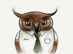 Mr. Owl #MadeWithPaper (WouterZArtZ - Dutch Designs!) Tags: bird animal sketch drawing owl madewithpaper paperapp paper53
