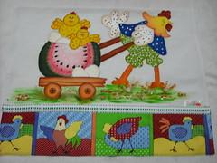 Pano de prato Super pai/ Galinha (Pintura em tecido. Panos de prato.) Tags: galinha cozinha panodeprato panodecopa