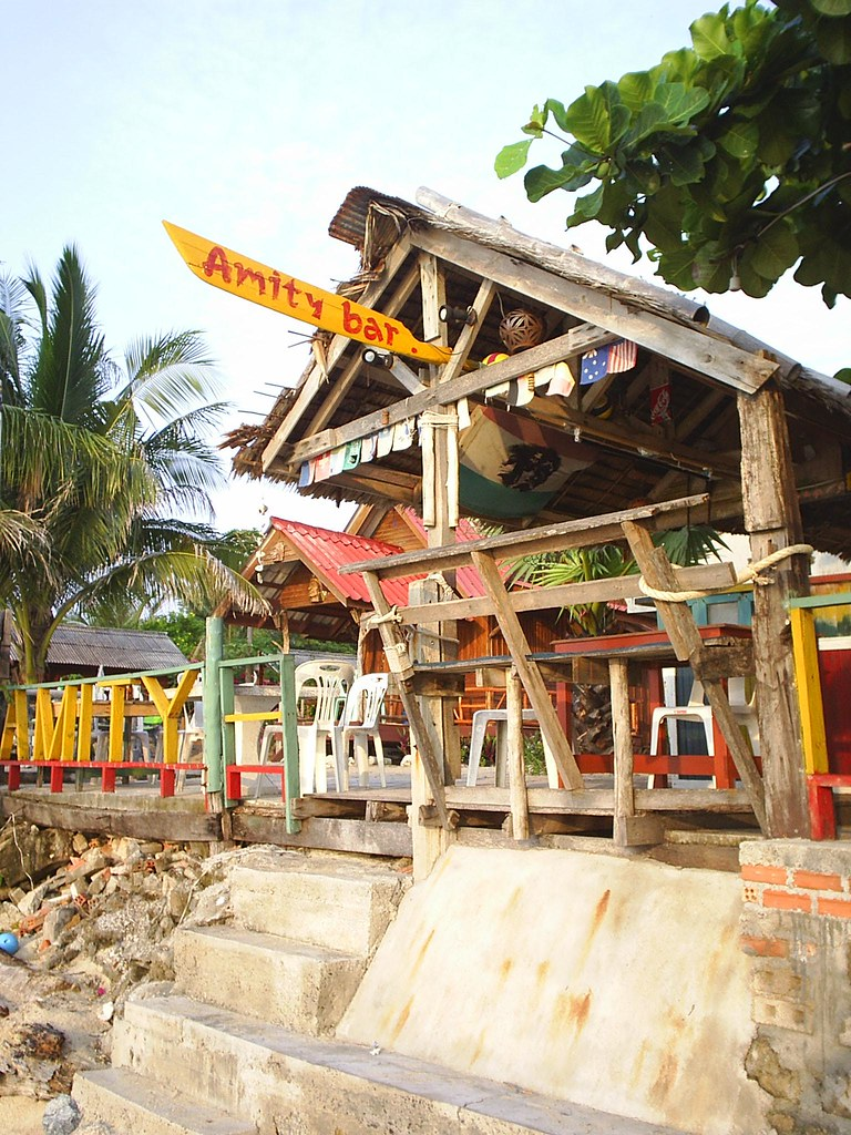 Old skool beach huts, Lamai Beach, Ko Samui, Thailand